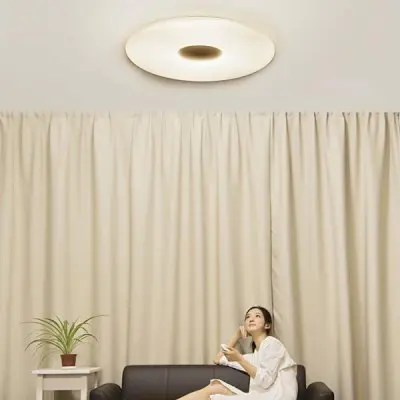 Gearbest Xiaomi Mijia PHILIPS Zhirui LED Ceiling Lamp - WHITE CEILING LIGHT App Control Dual Light Source Intelligent Dimming AC 100 - 240V