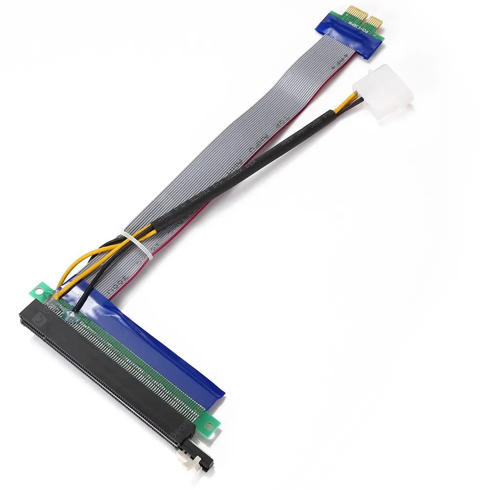 """CY EP - 028 PCI-E 1X to 16X Extension Flex Cable"" XINY PCI-E 16X Extension Cable 164-Pin Graphics Extension Cable External 12V Power Supply XINY PCI-E 16X Extension Cable 164-Pin Graphics Extension Cable External 12V Power Supply 20170905155442 78056"