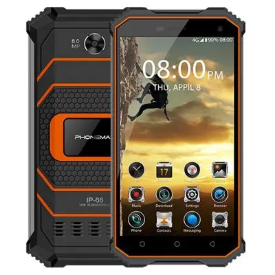 Phonemax Rocky 2 2GB/16GB Orange Color 4G Smartphone