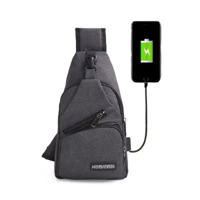 CTSmart 0817 Polyester USB Port Sling Bag