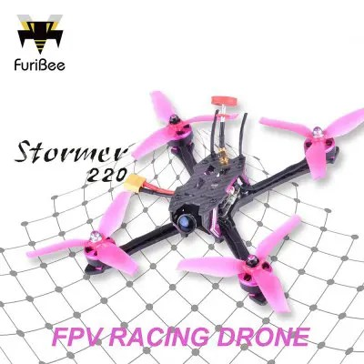 FuriBee Stormer 220mm FPV Racing Drone - BNF - WITH FRSKY RECEIVER COLORMIX