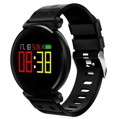 Gearbest CACGO K2 Smart Watch for iOS / Android Phones - BLACK Sleep / Heart Rate / Blood Pressure / Blood Oxygen / Calories Monitor Remote Camera