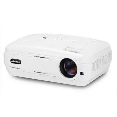 Gearbest Alfawise X 3200 Lumens HD 1080P Smart Projector Support 4K - WHITE BASIC VERSION ( EU PLUG ) Multimedia LED for Home Theater