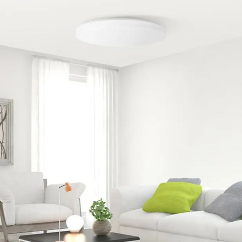 Gearbest Xiaomi Yeelight JIAOYUE YLXD02YL 650 Surrounding Ambient Lighting LED Ceiling Light - WHITE WHITE LAMPSHADE WiFi / Bluetooth / APP Contro Control 200 - 240V