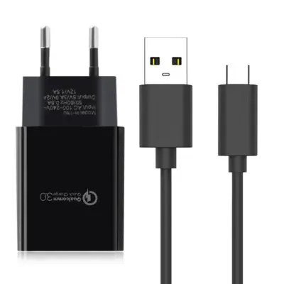 EU Plug Power Charger USB 3.1 Type C Data Sync Charging Cable