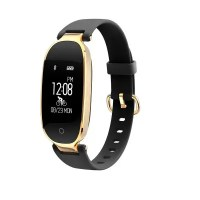 S3 Female Smart Bracelet IP67 Water Resistant Pedometers Exercise Record Sports Heart Rate Monitor for iOS Android