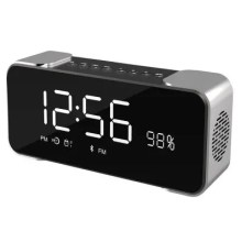 Portable Wireless Stereo Speaker with Alarm Clock