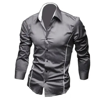 Gearbest Men'S Personal Edge Fashion Casual Long-Sleeved Shirts