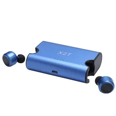 True Wireless Earbuds Twins X2T Mini Bluetooth CSR4.2 Earphone Stereo with Magnetic Charger Box Case