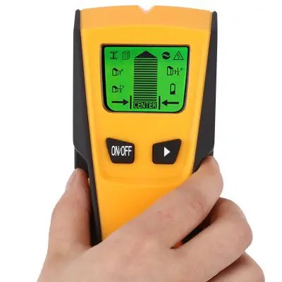 Gearbest FLOUREON TH-210 Stud Center Finder Metal AC Live Wire Detector - YELLOW 3 in 1 Wall Mounted Scanner Finding Electrical Field