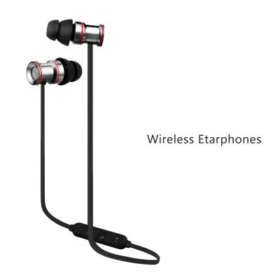 Gearbest EXCELVAN BTH-828 Sport Bluetooth V4.1 headsets Sweatproof Stereo Running Headphones Wireless Earphones with Microphone & Magnetic compatible - GRAY & RED