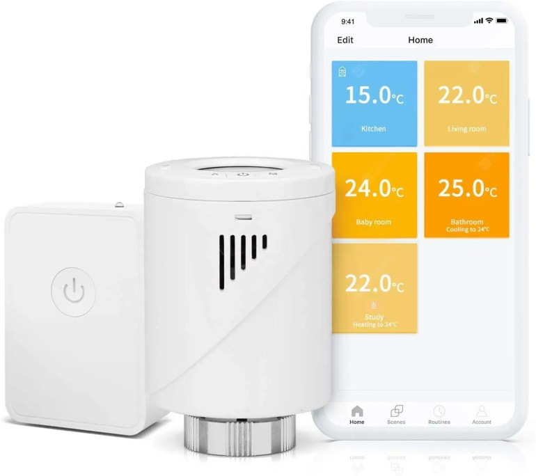 Meross Smart Heating Radiator Thermostat with Starter Kit - Germany   (entrepôt EU) 12%commissions - 53.26€