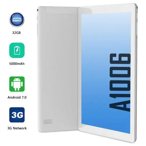 ANRY Tablets Android 10 inch 3G Phone Call 1GB 16 GB Dual SIM Card WiFi Bluetooth