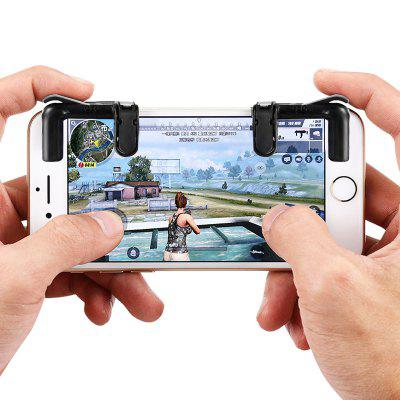 Gearbest gocomma Pair of Mobile Game Fire Button Shooting Trigger - BLACK for PUBG Rules of Survival Knives Out