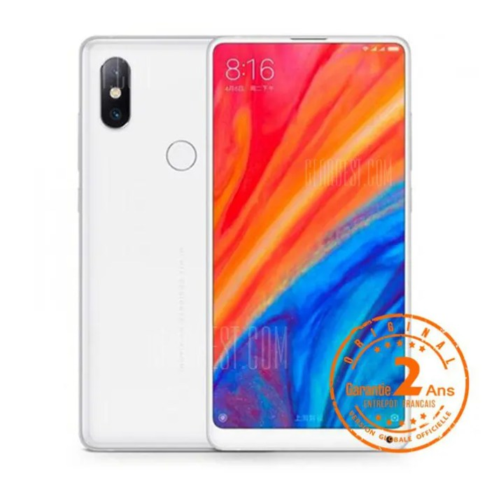 Xiaomi Mi Mix 2S Smartphone 4G Bluetooth 5,0 Version Globale