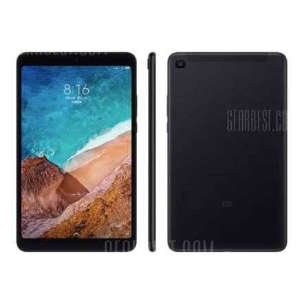 Gearbest Xiaomi Mi Pad 4 Tablet PC 4GB + 64GB - BLACK 8.0 inch MIUI 9 Qualcomm Snapdragon 660