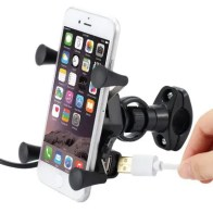 Mobile Phone Holder Rack Navigation Bracket with USB Charging