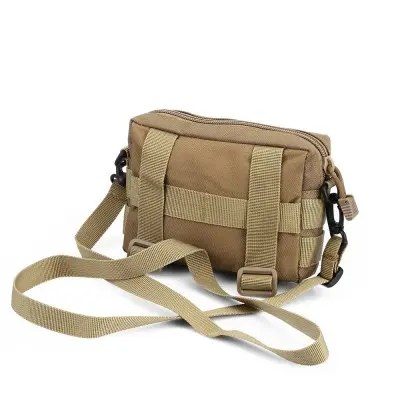 Gearbest Gocomma Tactical Waist Bag EDC Pouch for Molle System - LIGHT KHAKI 1000D Water-resistant Nylon