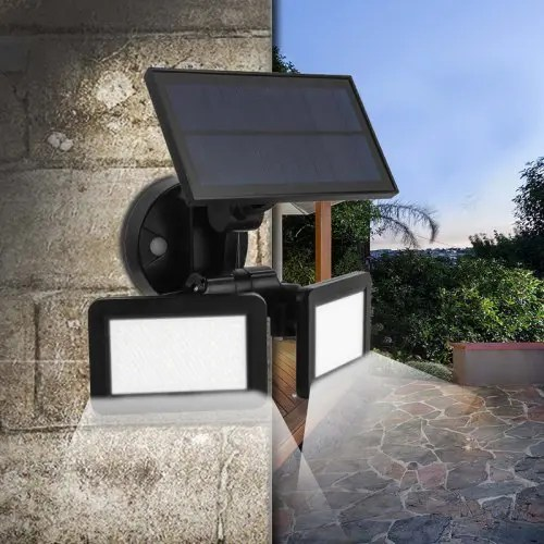 Microwave Radar Induction Solar Power LED Wall Light