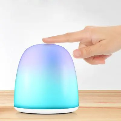 Gearbest Utorch Touch Control Fantasy Night Light - WHITE 1200mAh Rechargeable Battery Shake Mode Color Gradient