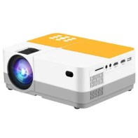 H3 LCD 2400 Lumens Video Projector Support 1080P Wired Mobile Phone Mirroring
