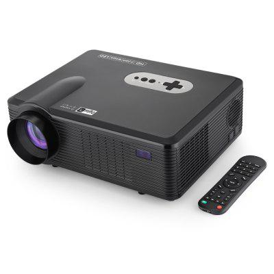 Gearbest Excelvan CL720D LED Projector with Digital TV Slot - BLACK EU PLUG 3000LM 1280 x 800 Pixels with Manual Keystone Correction Support 1080P