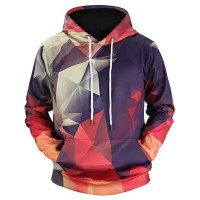 Stylish Creative Geometrical Print Hoodie Sweatshirt