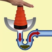 Powerful Manual Sink Plunger Toilet Bathtub Clog Remover
