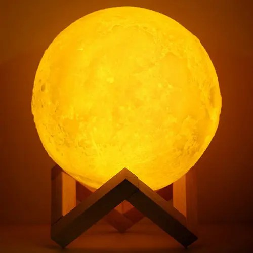 3D Simulation Moon Light with Three Colors