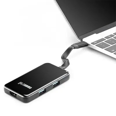 Gocomma 6 in 1 USB 3.1 Type-C Hub Aluminum Alloy Adapter