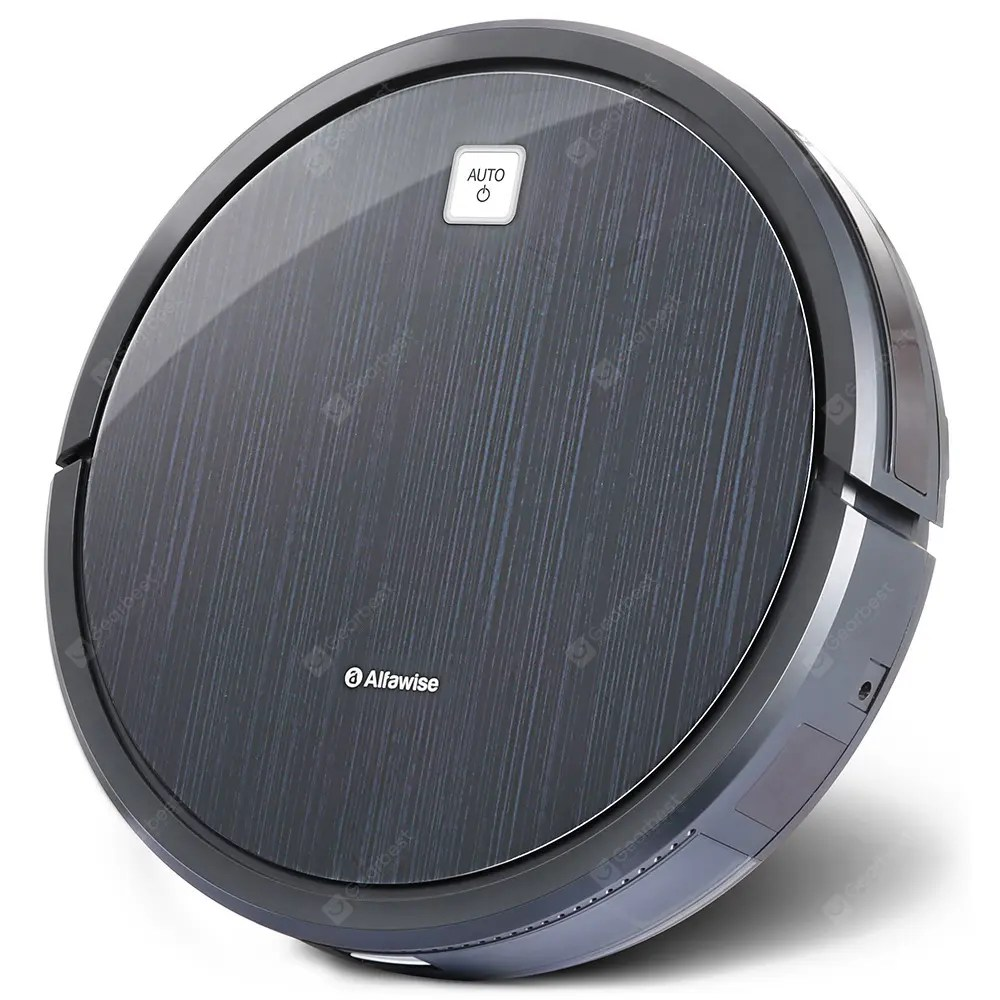 Alfawise V5 TWS Wireless Mini Earbuds Alfawise V8S Robot Vacuum Cleaner Dual SLAM – Black 23Aug