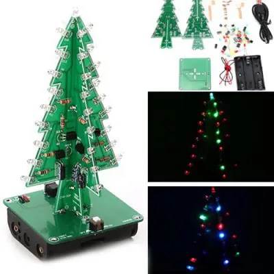 3D Electronic Christmas Decoration Tree DIY Kit
