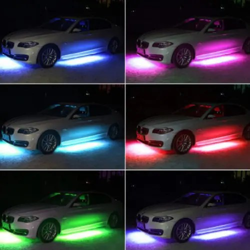 Car Chassis Lights Strips RGB LED Neon Underbody Lamps Bars