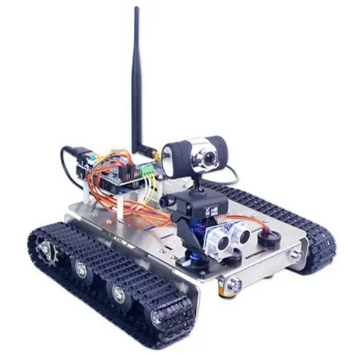 XiaoR_GEEK DIY GFS WiFi Wireless Video Control Smart Robot Tank Car Kit for Arduino UNO