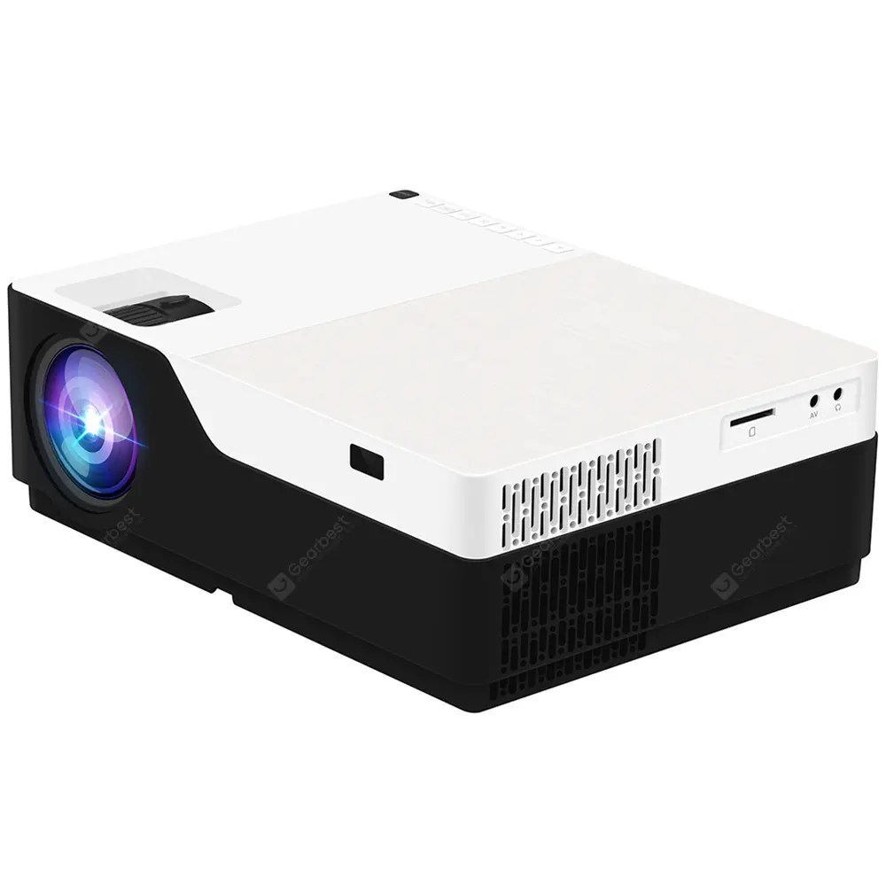 M18 LCD FHD Home Theater Projector 1920 x 1080P  – Black EU Plug Android Version 11Oct