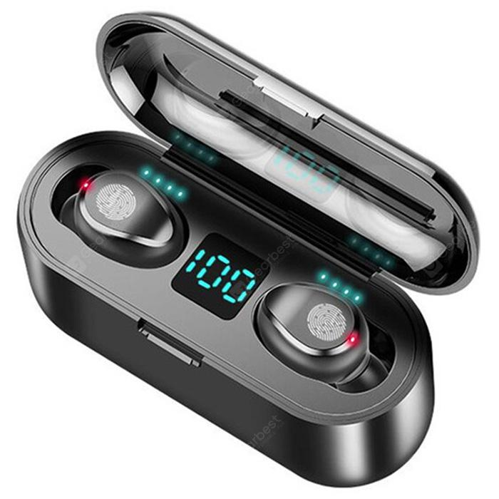 Gocomma F9 Wireless Earphone Bluetooth V5.0 Earbuds LED Display with Charging Bin Power Bank  23Oct