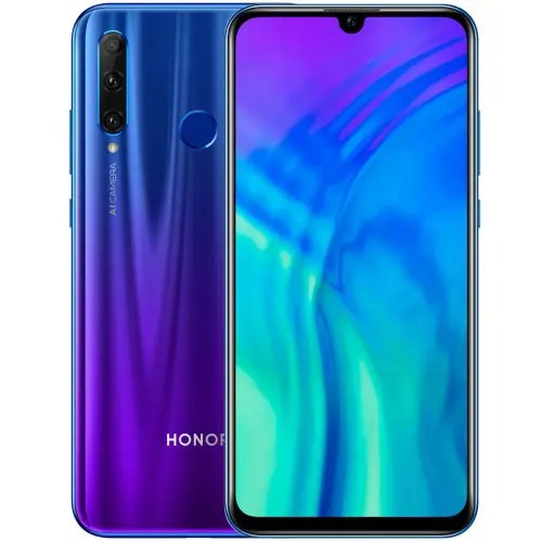 HUAWEI Honor 20 Lite 4G Phablet 6.21 inch EMUI 9.0.1 Android 9.0 Kirin 710F Octa Core 4GB RAM 128GB ROM 3 Rear Camera 3400mAh Battery Global Version