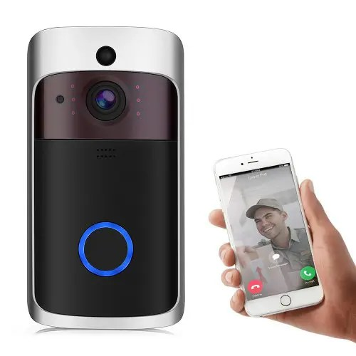 Bilikay L10 Wireless Smart Video Doorbell Home Security Camera PIR Detection Micro SD Local Storage