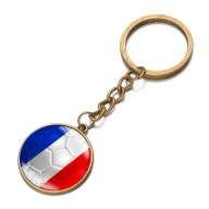 Football National Flag Model Keychain for 2018 FIFA World Cup