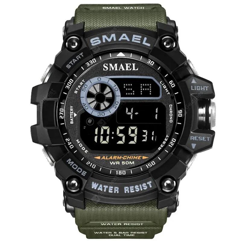 SMAEL Men Military Army LED Digital Big Dial Sports Outdoor Watches – Multi-A 29Jul