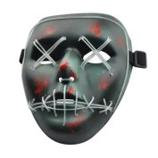 Halloween Mask LED Glow Scary Wire Light Up Grin Festival Parties