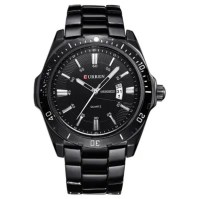 CURREN Casual Business Calendar Steel Belt Men's Watch