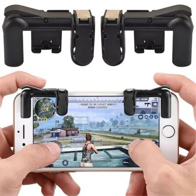 $0.99: Mobile Game Fire Button Aim Trigger Shooting Controller 2PCS – BLACK 2Feb