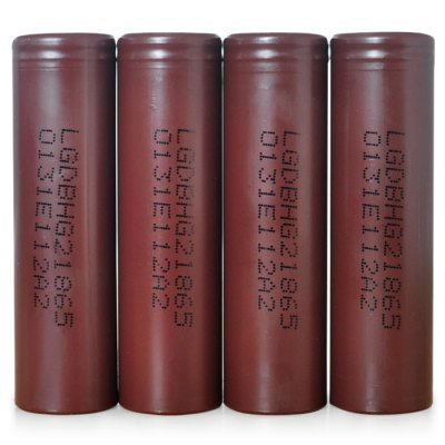 4x LG HG2 3000mAh 18650 Li-ion Battery