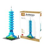 LOZ 390Pcs 9365 Taipei 101 Tower Building Block Educational Toy for Cooperative Ability - World Great Architecture Series