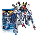 LOZ 689Pcs 9354 Freedom Gundam Figure Building Block Educational Toy for Improving Patience