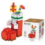 LOZ 150Pcs M - 9124 Christmas Sock Building Block Educational Toy for Brain Thinking