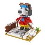 LOZ No. 9525 Skier Snoopy Diamond Block Toy Block Intelligent Toy Fun Game
