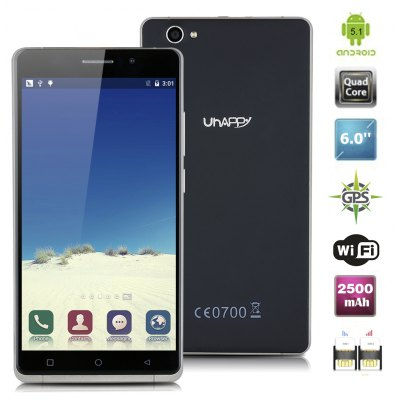 UHAPPY UP580 MT6580 Quad Cores 1.3GHz RAM 1GB 8GB ROM 2500mAh Unlocked Android 5.1IPS QHD 960*540 Pixels Multitouch Smartphone