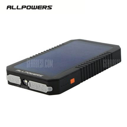 ALLPOWERS 12000mAh Monocrystalline Silicon Solar Panel Power Bank (Price 22.66) - Click on pic to open the link